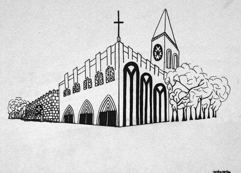 Perspective Drawings Of Buildings 2-point perspective: gothic/romanesque architecture - stephanie's